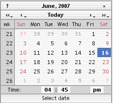 רכיב לוח שנה
